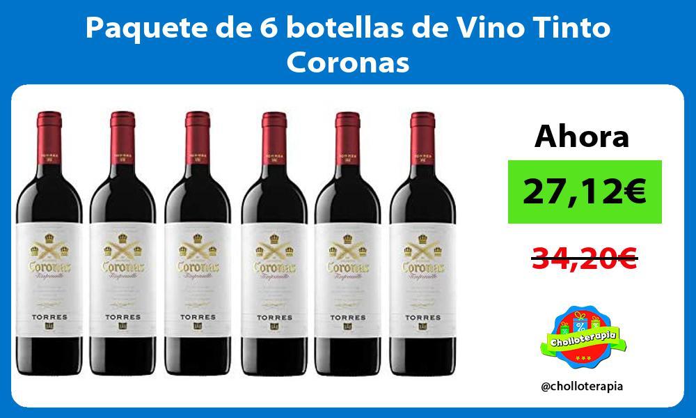 Paquete de 6 botellas de Vino Tinto Coronas