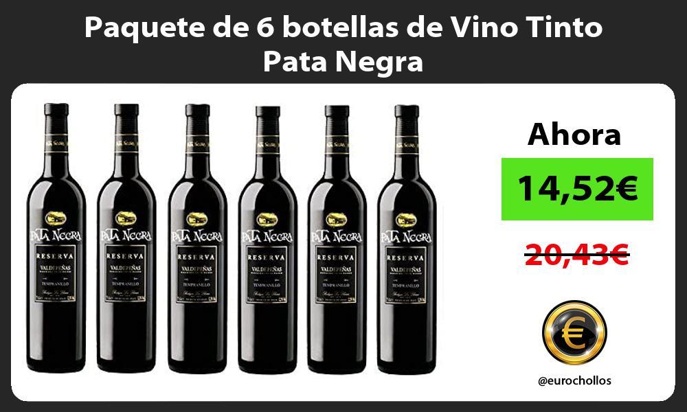 Paquete de 6 botellas de Vino Tinto Pata Negra