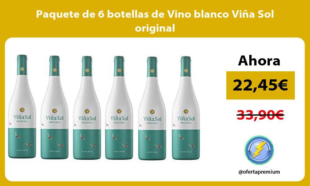 Paquete de 6 botellas de Vino blanco Viña Sol original