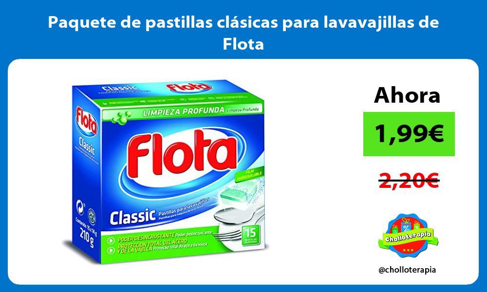 Paquete de pastillas clásicas para lavavajillas de Flota