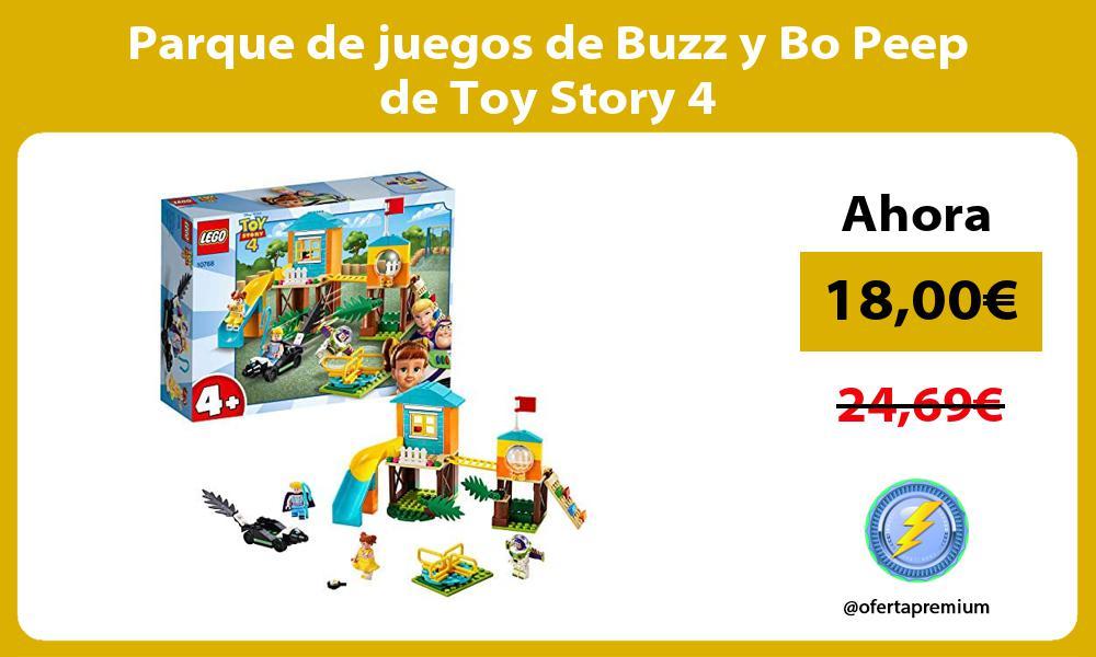 Parque de juegos de Buzz y Bo Peep de Toy Story 4