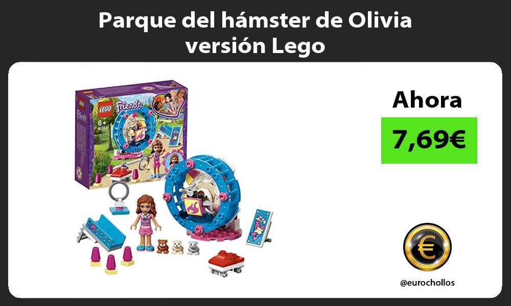 Parque del hámster de Olivia versión Lego