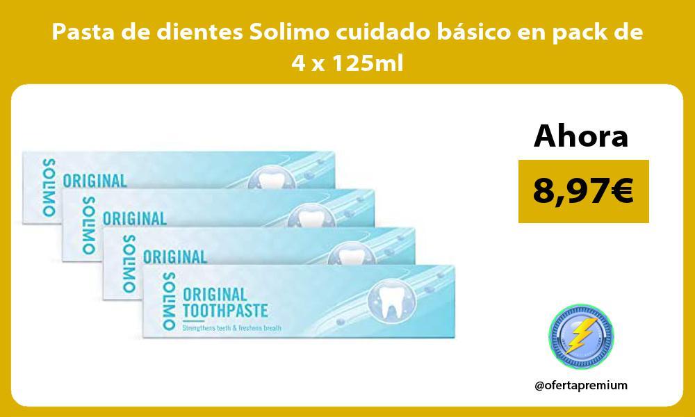 Pasta de dientes Solimo cuidado básico en pack de 4 x 125ml