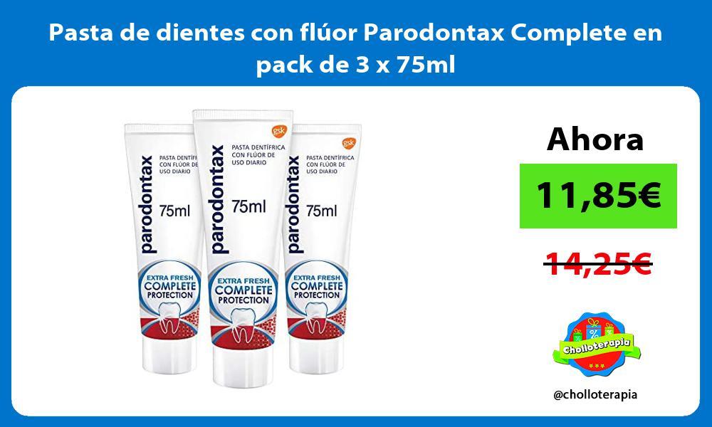 Pasta de dientes con flúor Parodontax Complete en pack de 3 x 75ml