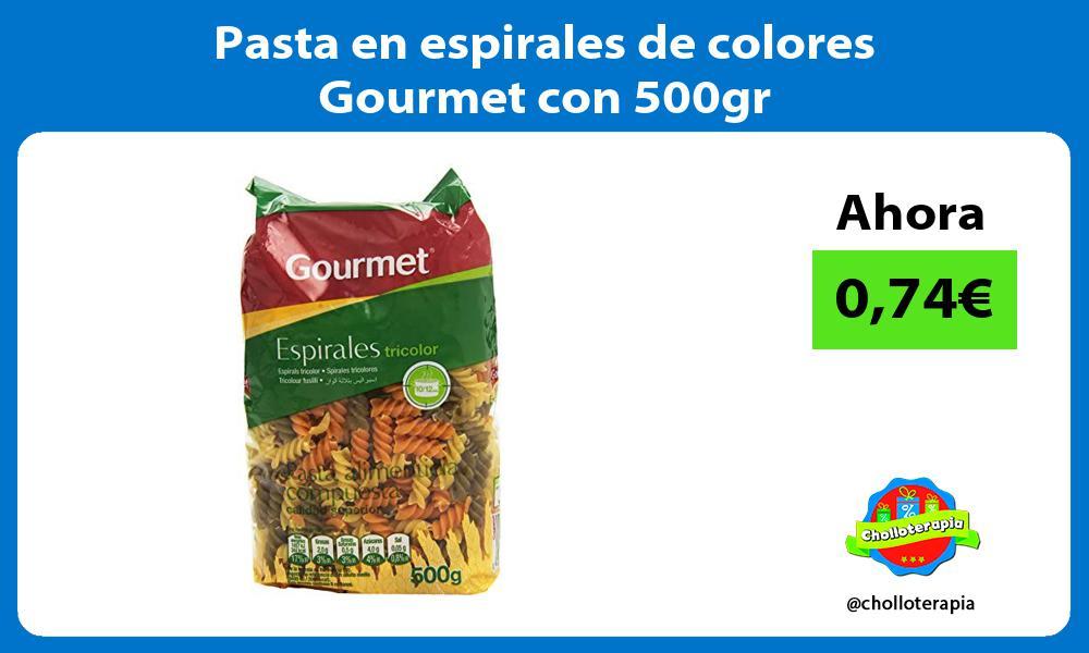 Pasta en espirales de colores Gourmet con 500gr