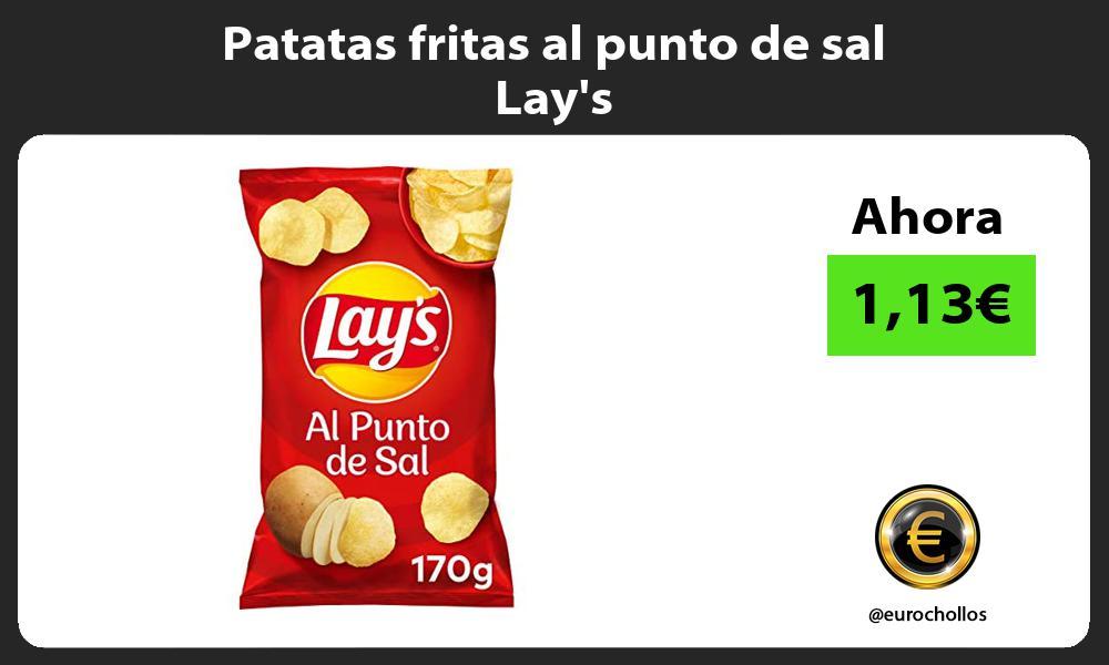 Patatas fritas al punto de sal Lays