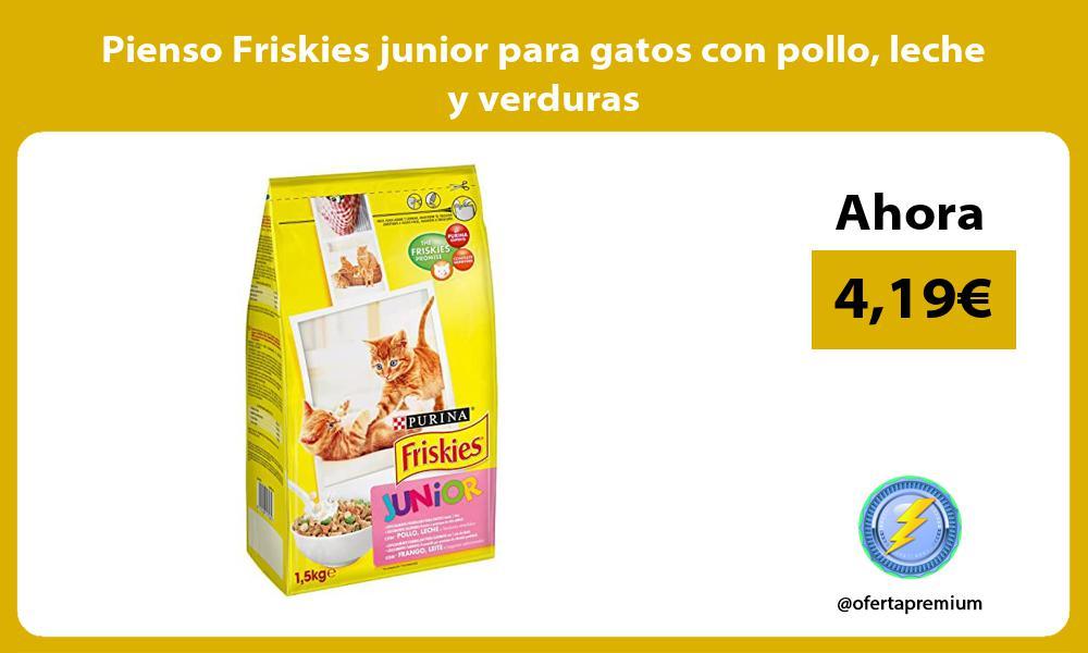 Pienso Friskies junior para gatos con pollo leche y verduras