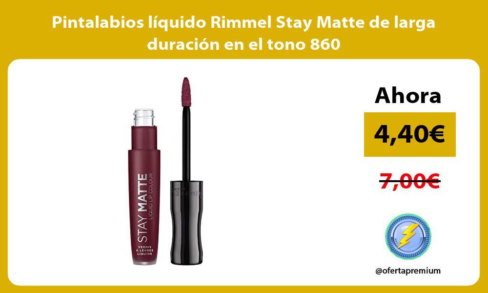 Pintalabios líquido Rimmel Stay Matte de larga duración en el tono 860
