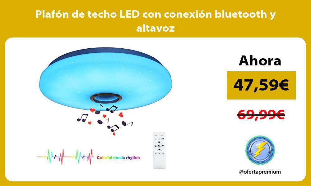 Plafón de techo LED con conexión bluetooth y altavoz