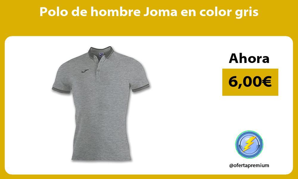 Polo de hombre Joma en color gris