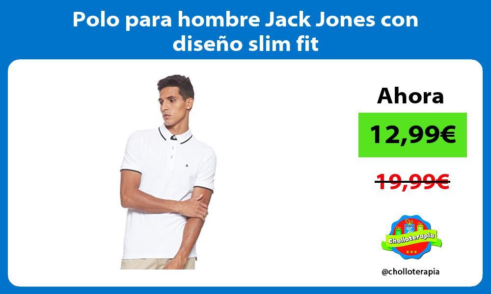 Polo para hombre Jack Jones con diseño slim fit