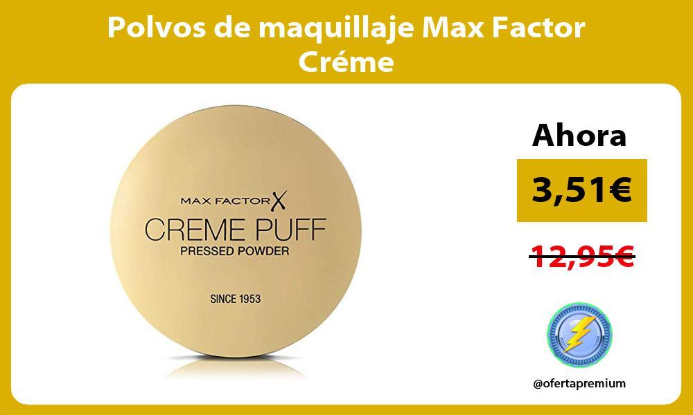 Polvos de maquillaje Max Factor Créme