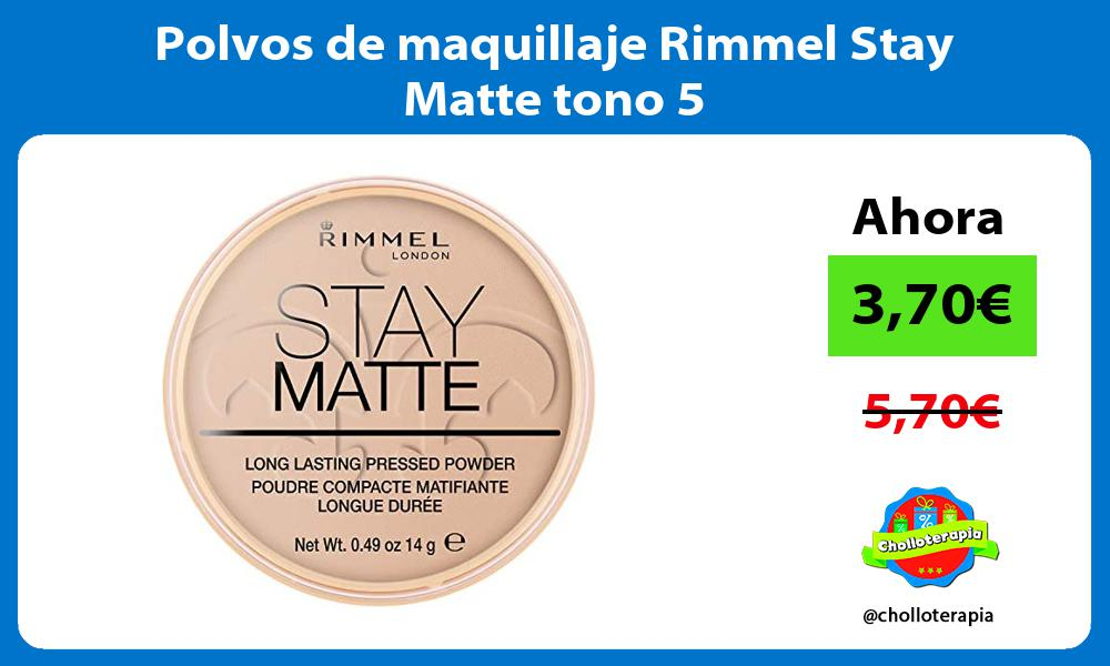 Polvos de maquillaje Rimmel Stay Matte tono 5