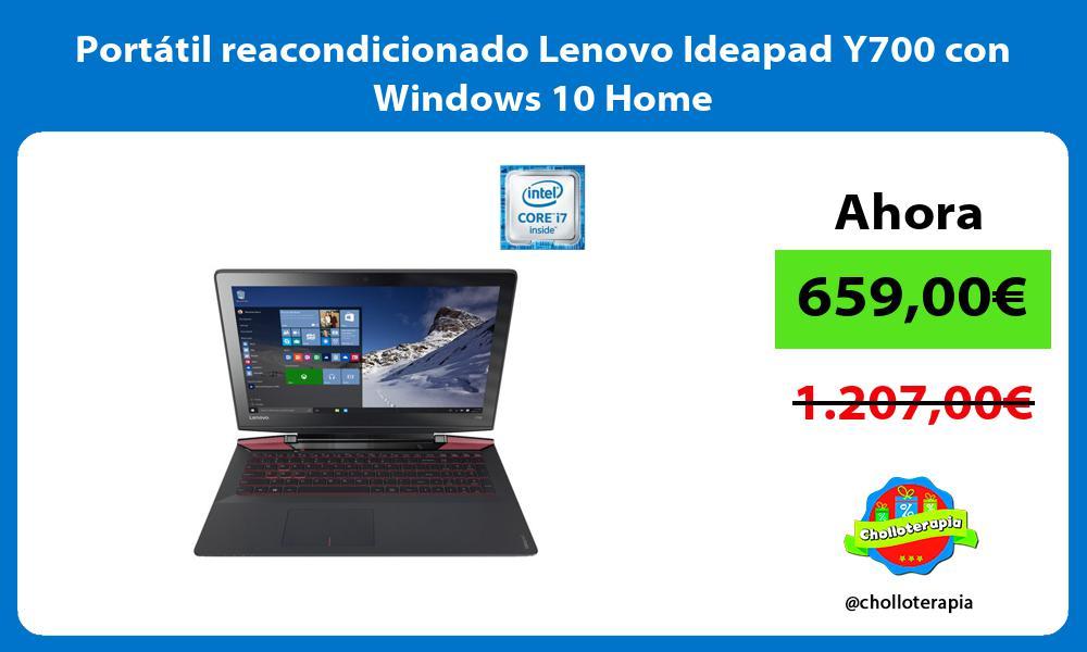 Portátil reacondicionado Lenovo Ideapad Y700 con Windows 10 Home