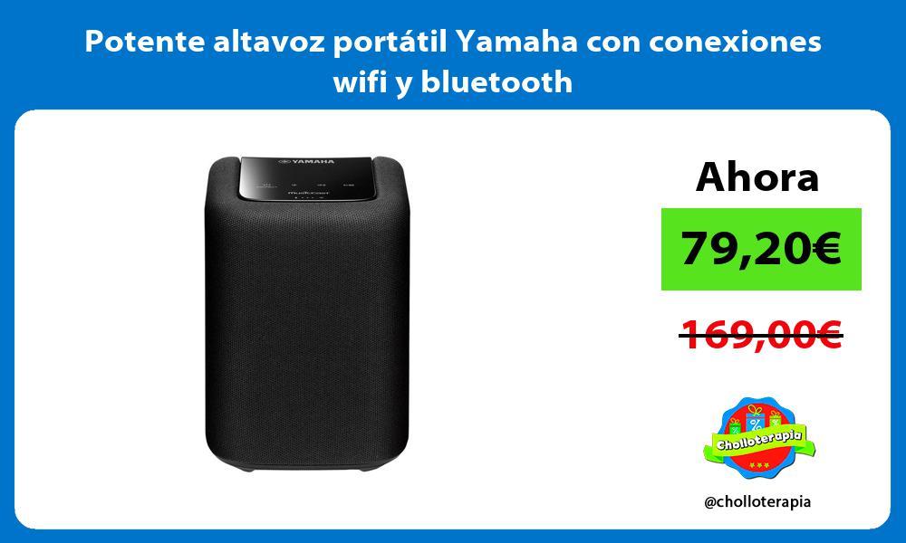 Potente altavoz portátil Yamaha con conexiones wifi y bluetooth