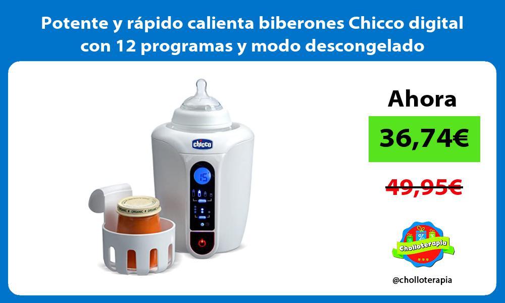 Potente y rápido calienta biberones Chicco digital con 12 programas y modo descongelado