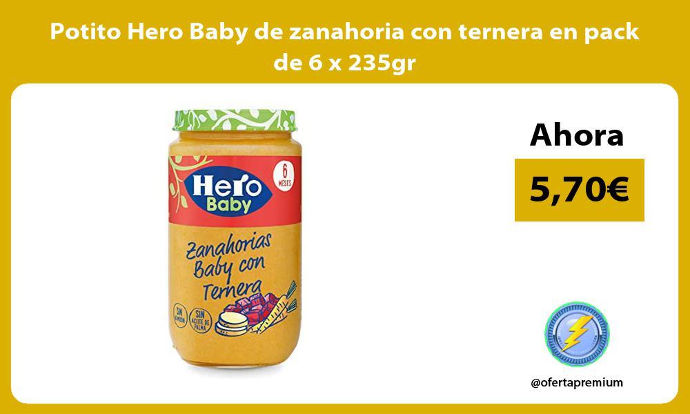 Potito Hero Baby de zanahoria con ternera en pack de 6 x 235gr
