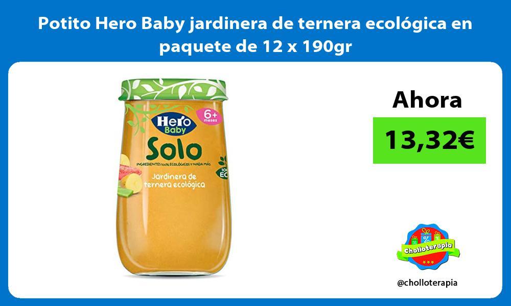 Potito Hero Baby jardinera de ternera ecológica en paquete de 12 x 190gr