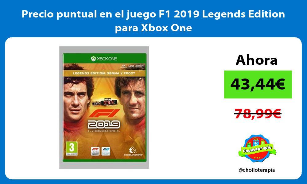 Precio puntual en el juego F1 2019 Legends Edition para Xbox One