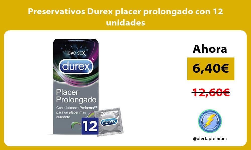 Preservativos Durex placer prolongado con 12 unidades