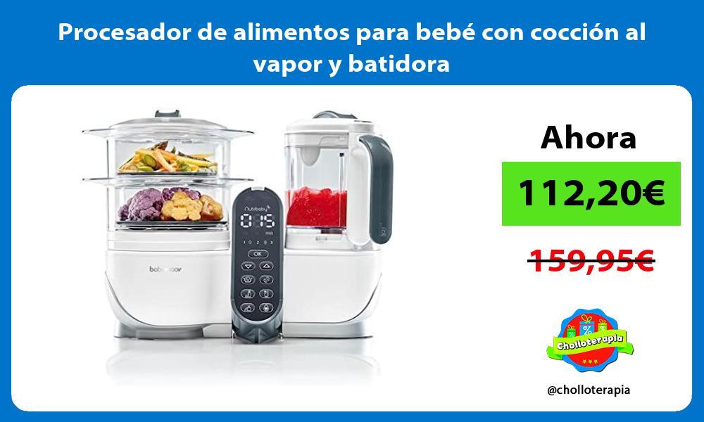 Procesador de alimentos para bebé con cocción al vapor y batidora