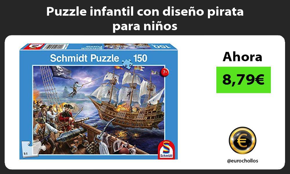 Puzzle infantil con diseño pirata para niños
