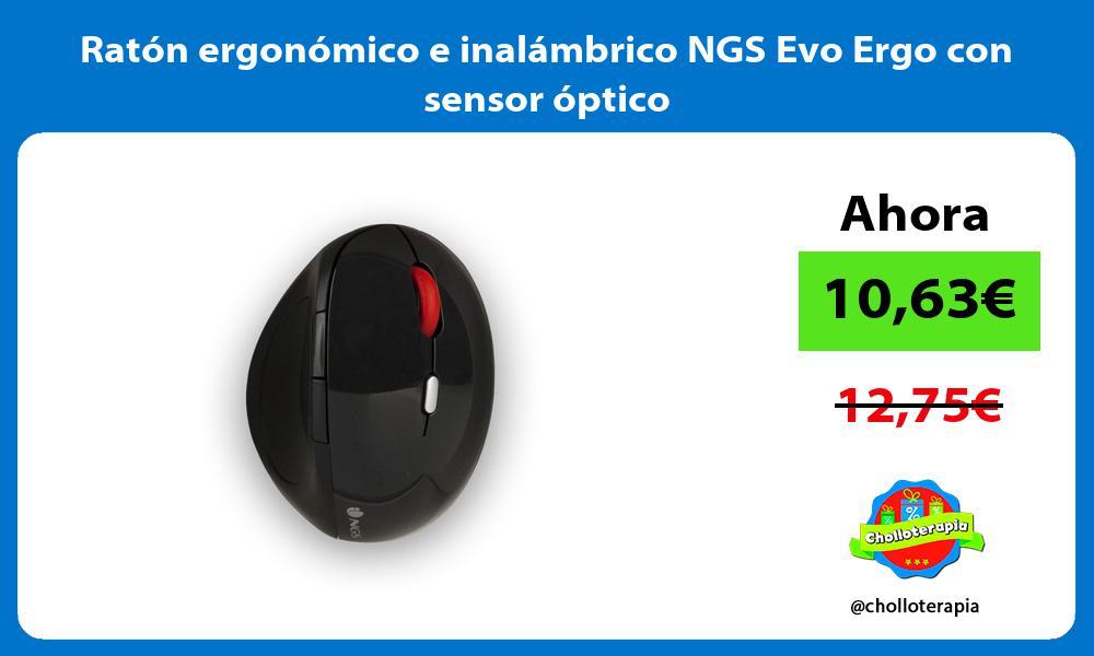 Ratón ergonómico e inalámbrico NGS Evo Ergo con sensor óptico