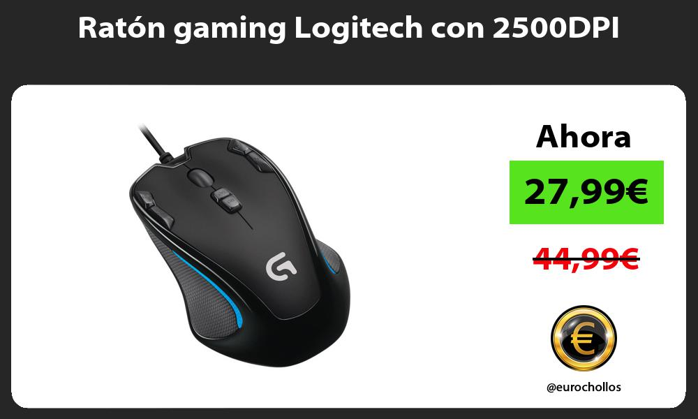Ratón gaming Logitech con 2500DPI