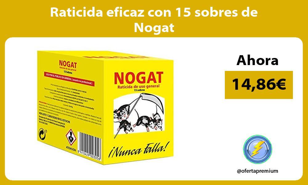 Raticida eficaz con 15 sobres de Nogat