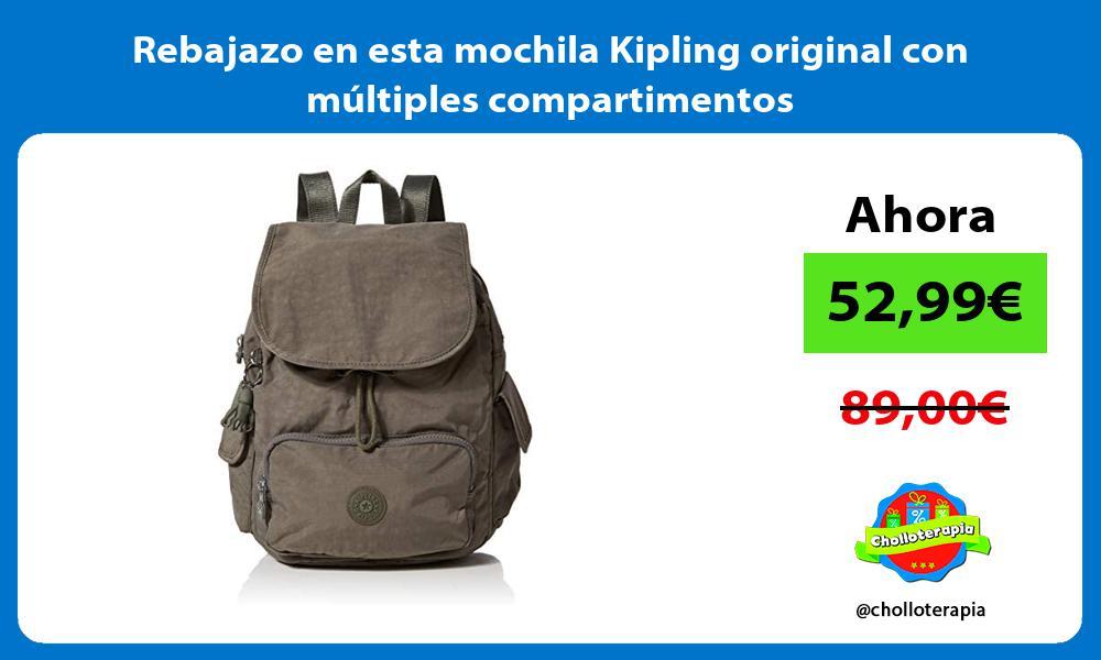 Rebajazo en esta mochila Kipling original con múltiples compartimentos