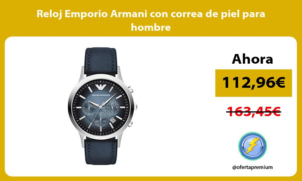 Reloj Emporio Armani con correa de piel para hombre