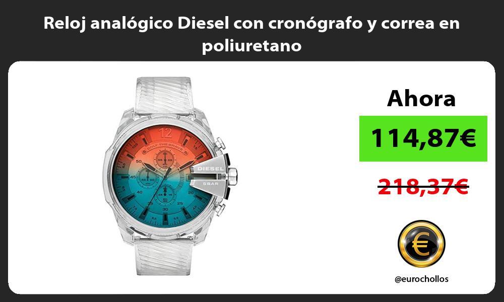 Reloj analógico Diesel con cronógrafo y correa en poliuretano