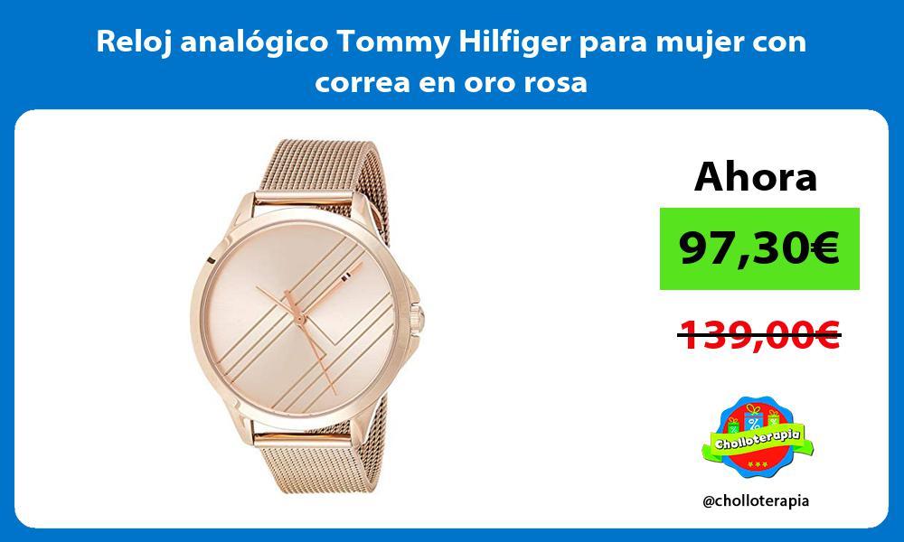 Reloj analógico Tommy Hilfiger para mujer con correa en oro rosa