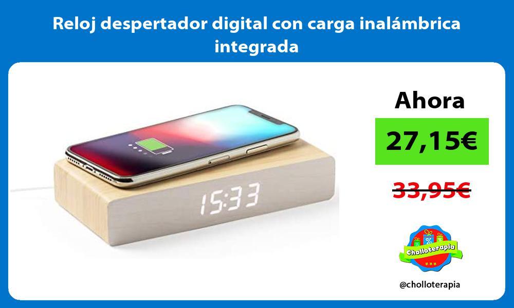 Reloj despertador digital con carga inalámbrica integrada