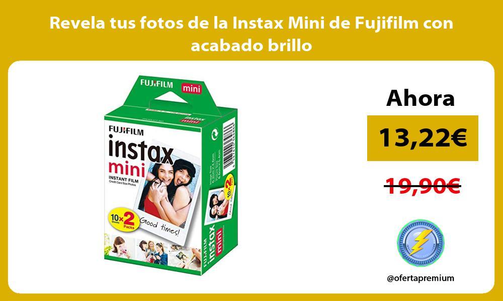 Revela tus fotos de la Instax Mini de Fujifilm con acabado brillo