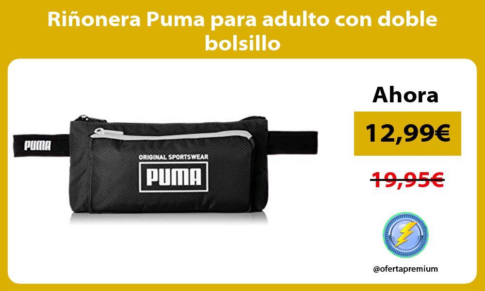 Riñonera Puma para adulto con doble bolsillo