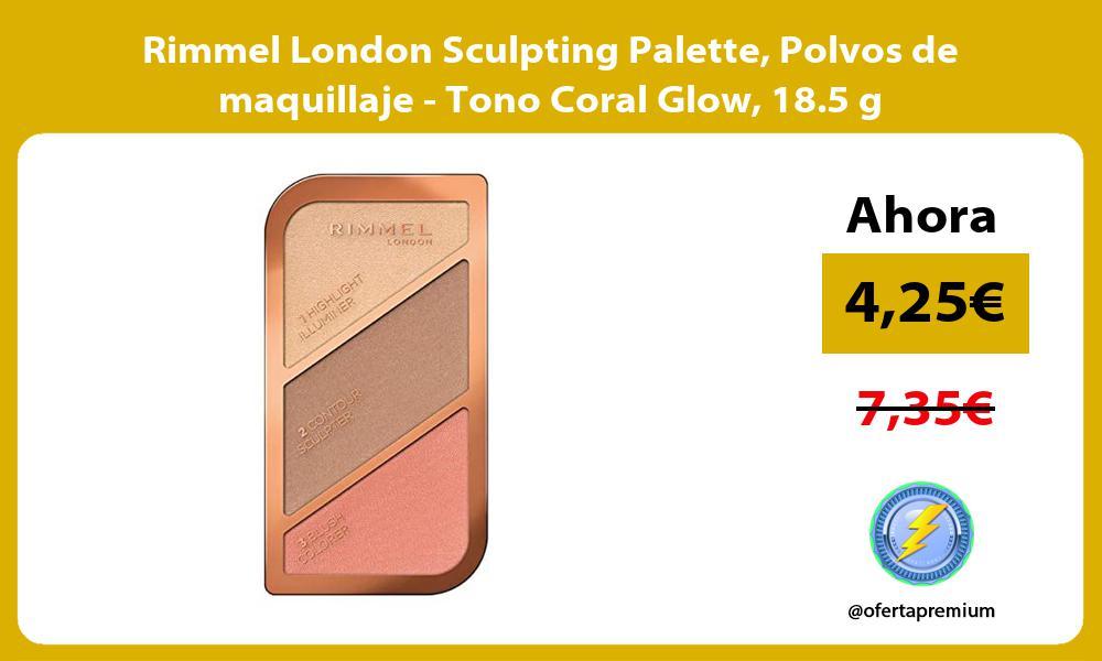 Rimmel London Sculpting Palette Polvos de maquillaje Tono Coral Glow 18 5 g