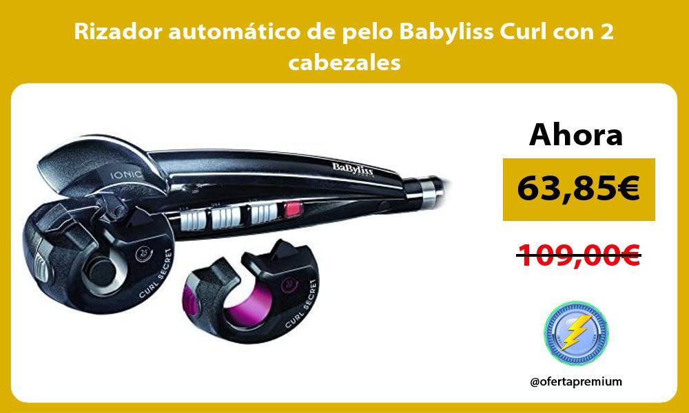 Rizador automático de pelo Babyliss Curl con 2 cabezales