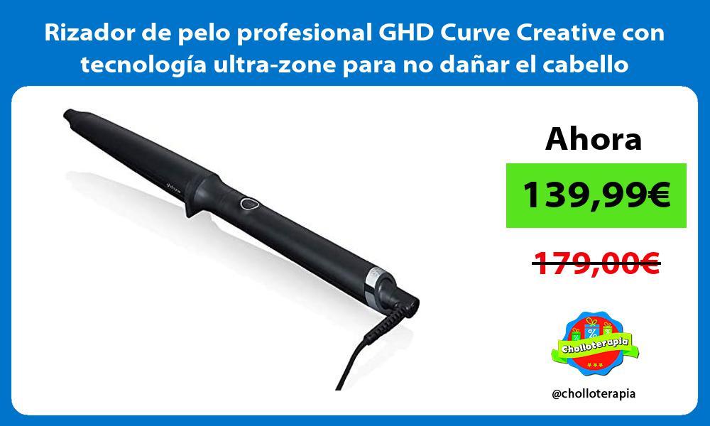 Rizador de pelo profesional GHD Curve Creative con tecnología ultra zone para no dañar el cabello
