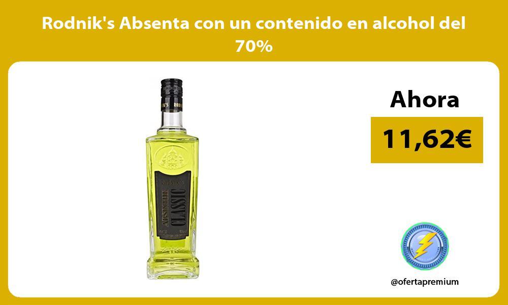 Rodniks Absenta con un contenido en alcohol del 70