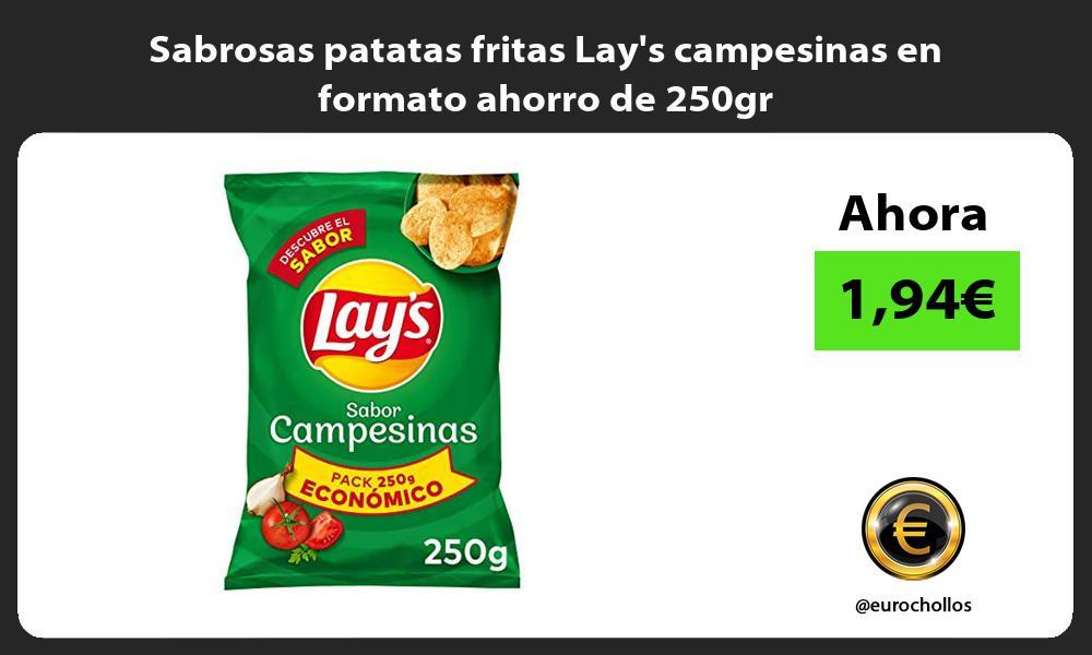 Sabrosas patatas fritas Lays campesinas en formato ahorro de 250gr