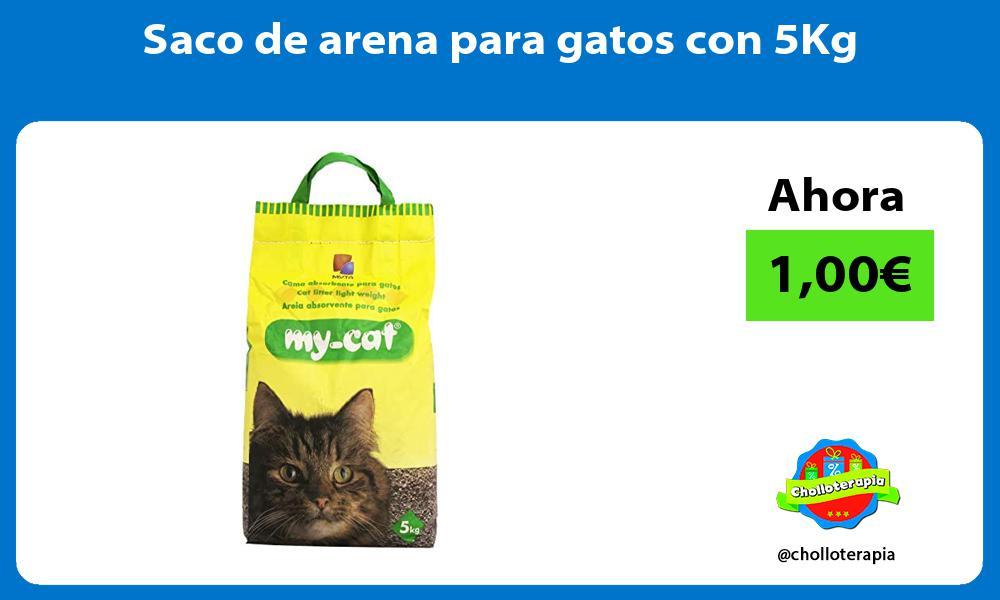 Saco de arena para gatos con 5Kg