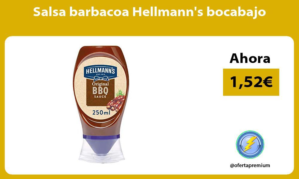 Salsa barbacoa Hellmanns bocabajo