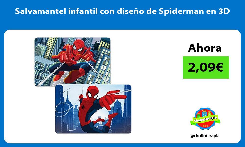 Salvamantel infantil con diseño de Spiderman en 3D