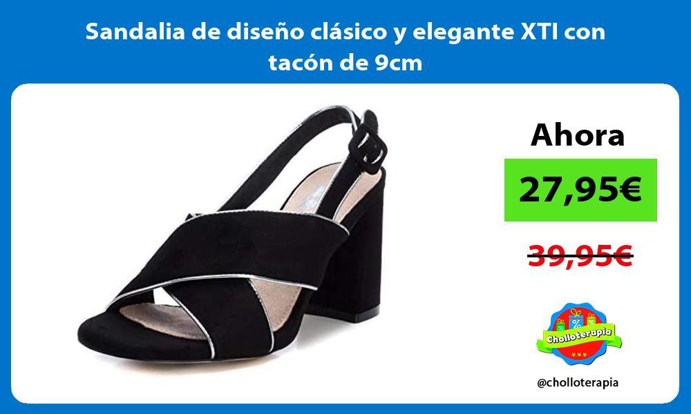 Sandalia de diseño clásico y elegante XTI con tacón de 9cm