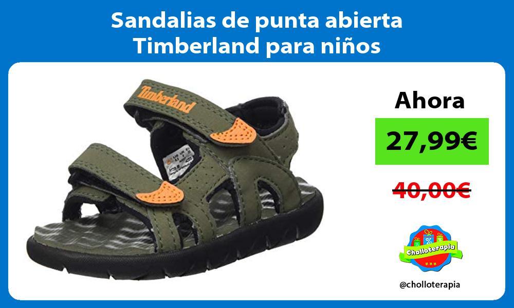 Sandalias de punta abierta Timberland para niños