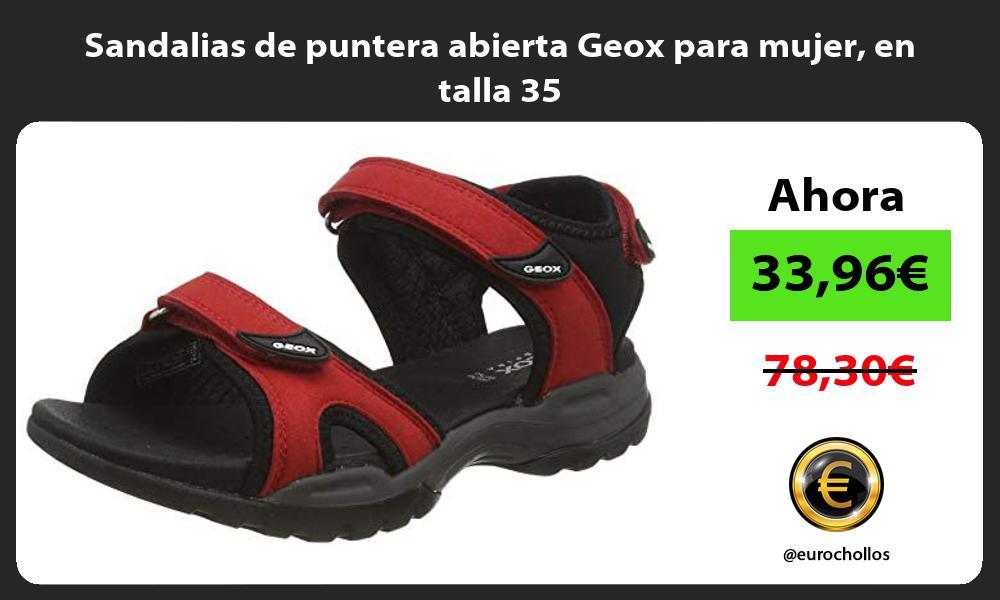 Sandalias de puntera abierta Geox para mujer en talla 35