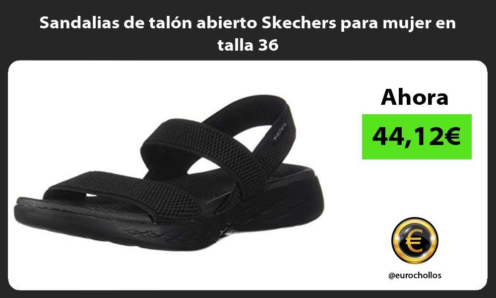 Sandalias de talón abierto Skechers para mujer en talla 36