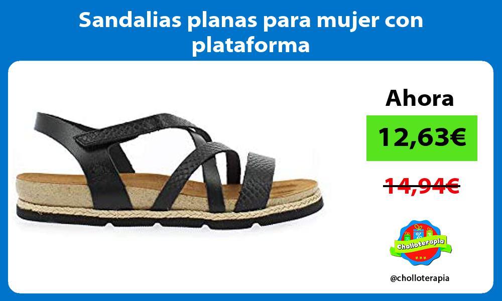 Sandalias planas para mujer con plataforma