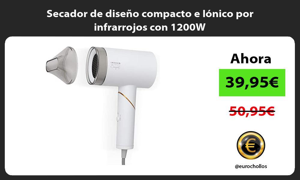 Secador de diseño compacto e Iónico por infrarrojos con 1200W